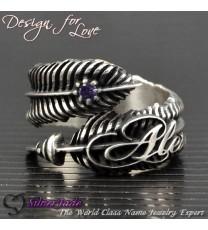 FER00002-羽毛戒指