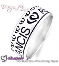 NCRB0010-凹字名字戒指