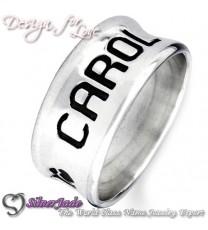 NCRB0017-凹字名字戒指