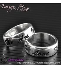 RD00001-凹字名字戒指