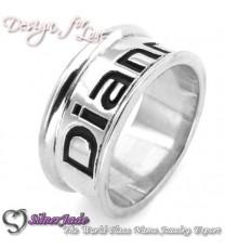 RD00013-凹字名字戒指