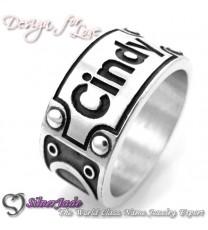 RD00014-凹字名字戒指
