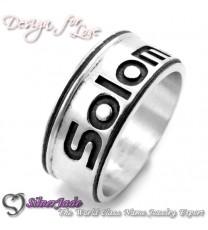 RD00015-凹字名字戒指