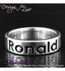 RD00025-凹字名字戒指