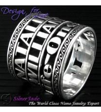 NCRG00025-通花名字戒指(雙層戒指)