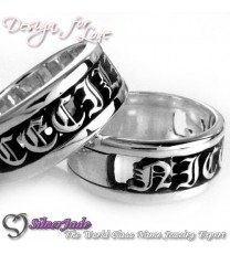 NCRG00028-通花名字戒指(羅馬戒指)