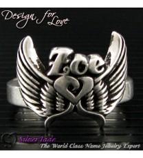 NCRS00014-天使之翼名字戒指