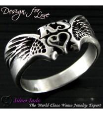 NCRS00015-天使之翼名字戒指
