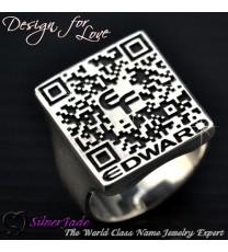 RQR00001-QR Code戒指 QR Code Ring(信息戒指)