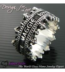 RCW00002-皇冠名字戒指