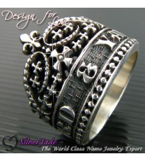 RCW00006-皇冠名字戒指