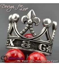 RCW00017-皇冠名字戒指