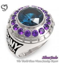 RG00001-D2-畢業戒指/班級戒指(10mm圓鑽環繞鑽版)