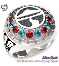 RG00001-D3-畢業戒指/班級戒指(圓面環繞鑽圖案版)