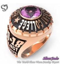 RG00002-D1-畢業戒指/班級戒指(7mm圓鑽版少女版)