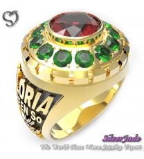 RG00002-D2-畢業戒指/班級戒指(7mm圓鑽環繞鑽女少版)
