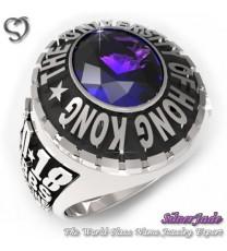 RG00003-D1-畢業戒指/班級戒指(10mm橢圓鑽少女版)