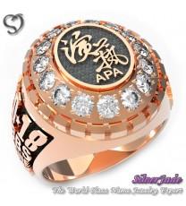 RG00003-D3-畢業戒指/班級戒指(橢圓面鑽環繞鑽圖案少女版)