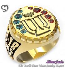 RG00003-D4-畢業戒指/班級戒指(橢圓面鑽環繞鑽圖案少女版 V2)
