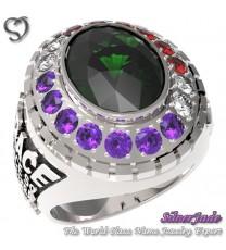 RG00004-D2-畢業戒指/班級戒指(12mm橢圓鑽環繞鑽版)