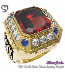 RG00006-D2-畢業戒指/班級戒指(12mm梯方鑽環繞鑽版)