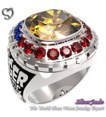 RG00007-D2-畢業戒指/班級戒指(11mm枕型鑽環繞鑽版)