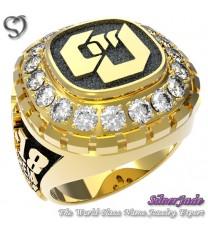 RG00007-D3-畢業戒指/班級戒指(枕面環繞鑽圖案版)