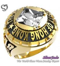 RG00010-D3-畢業戒指/班級戒指(8mm圓面方公主鑽版)