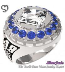 RG00010-D4-畢業戒指/班級戒指(8mm方公主鑽環繞鑽版)
