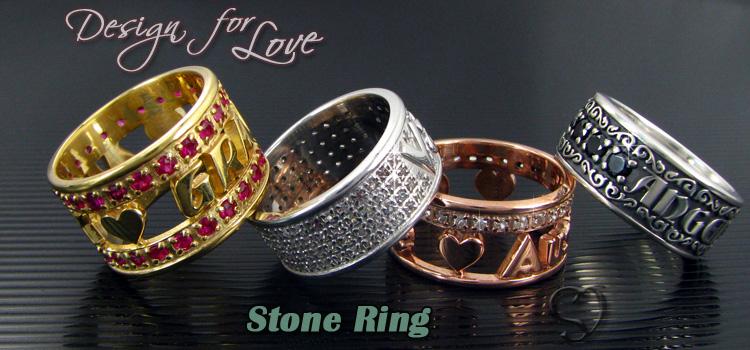 鑲石名字戒指
