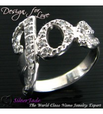 RST00001-鑲石名字戒指