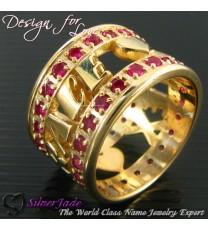RST00005-鑲石名字戒指