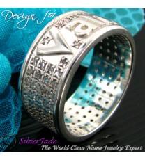 RST00008-鑲石名字戒指