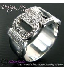 RST00011-鑲石名字戒指