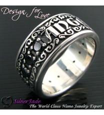 RST00012-鑲石名字戒指