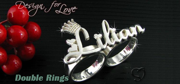 雙指環戒指